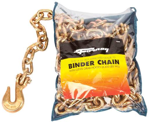 Forney 70399 Binder Chain 3/8 inch by 20 Feet