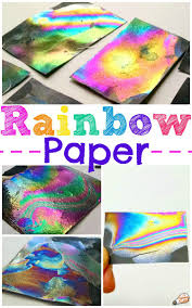 Make A Rainbow Paper Craft That Changes Colors As The Is Tipped Back And Forth