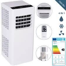 arebos 4in1 mobile klimaanlage 2kw 7000 btu klimagerät kühlen entfeuchten ventilator eek a
