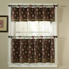 Nice Coffee Themed Kitchen Decor Curtains