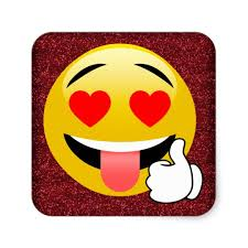 Red Glittery Heart Eyes Thumbs Up Emoji Stickers