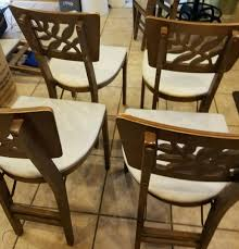 Rare Vintage 1940's Set Of 4 Stakmore Folding Chairs-Carved ...