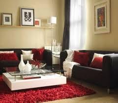 dekor ideen roter teppich wohnzimmer living room decor