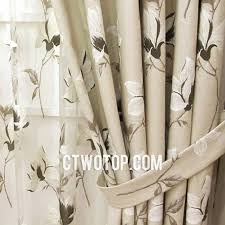 curtains with country style for living room green