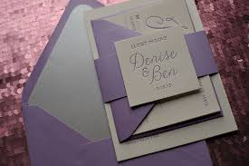 ON SALE NOW Starts At 69375 Purple Wedding Invitation And Silver