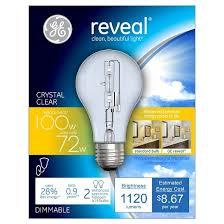 ge reveal 100 watt energy efficient halogen light bulb 2 pack