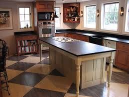 Add The Larger Countertop To Structure And You Have A Farm Table Island