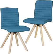 finebuy design esszimmerstühle 2er set fb4666 skandinavische stühle mit holzbeinen retro stuhlset petrol küchenstühle mit stoff lehnenstuhl
