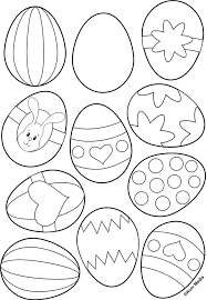 Easter Egg Coloring Page Oohh Print 2 Pgs And Color Fun For Me Matching Work The Kids