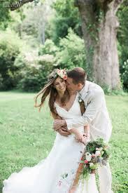 Rustic Flower Crown Bridal Beauty Bride Wedding Makeup And Hair