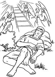 Jacobs Ladders And Angels In Jacob Esau Coloring Page