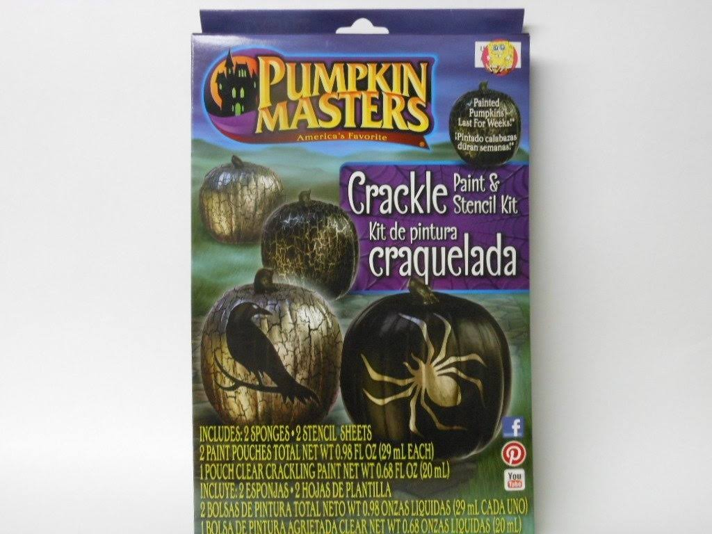 Pumpkin Masters Crackling Paint Kit with Real Crackle Effect Black