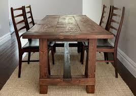 A Farmhouse Table On Natural Rug
