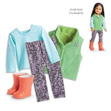 Amazoncom American Girl Z Yang Rainy Day Outfit For 18