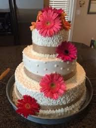 Cats Cake Creations Wedding With Burlap And Gerber Daisies