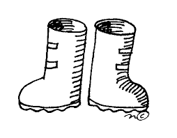 Clip Art Black And White Winter Boots Clipart