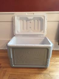 RARE COLEMAN Oberweis Dairy Home Delivery Milk Box Cooler Ice