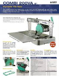 Imer Tile Saw Combi 200 by Combi 200va Saw Deltaquip Supplies Ltd