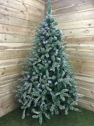 Lifelike Artificial Christmas Trees Uk by Premier 7ft 210cm Mountain Snow Fir Christmas Tree Amazon Co Uk