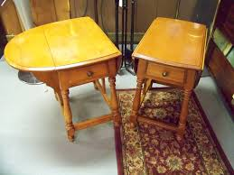 Heywood Wakefield Chair Identification by Sold Pair Maple Hitchcock End Tables Www Chconsignment Com