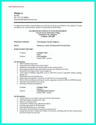best objective and summary featuring civil engineer resume