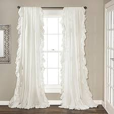 Bed Bath And Beyond Semi Sheer Curtains by Lush Décor Reyna Rod Pocket Window Curtain Panel Pair Bed Bath