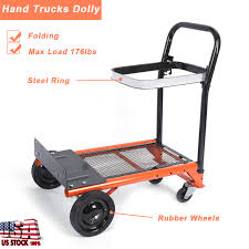 170LBS Heavy Duty Folding Hand Truck Cart Dolly Collapsible Luggage ... Norris 200 Jet Set Folding Hand Truck Walmartcom Portable Stair Climbing Cart Climb Dolly With Upcart Lb Capacity Lift Truckmphd1 The Home Depot Telescopic Sack Workplace Stuff Irton 150lb Northern Tool Best Trucks On Market Dopehome Alinum 3 In 1 1000lbs Convertible Compact Parrs Equipment Harper 150 Truckhmc5 R Us Red Baron Item Fw80a Cosco Shifter Mulposition And Multiple Wesco Superlite