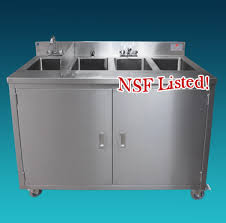 four compartment portable sink