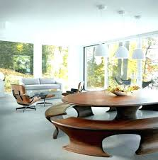 Curved Bench For Round Dining Table Settee Impressive Modern