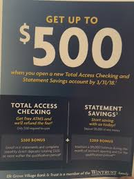Elk Grove Village Bank & Trust Checking & Savings Bonus ... Roundup Of Bank Bonuses 750 At Huntington 200 From Chase Total Checking Coupon Code 100 And Account Review Expired Targeting Some Ink Cardholders With 300 Brighton Park Community Bonus 300 Promotion Palisades Credit Union Referral 50 New Is It A Trap Offering Just To Open Checking Promo Codes 350 500 625 Business Get With 600 And Savings Accounts Handcurated List The Best Sign Up In 2019 Promotions Virginia