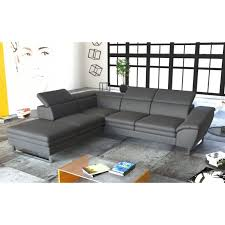 canapé simili cuir gris canape d angle simili zelfaanhetwerk