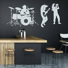 100 Free Home Interior Design Magazines Wall Stickers For Kids Bedrooms Rock Band Wall Sticker Drum Kit