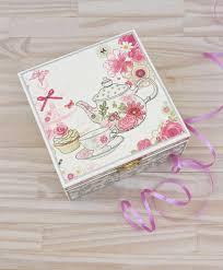 SALE Decoupaged Tea Box Gift Ideas Kitchen Decor Wooden