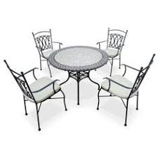 table ronde mosaique fer forge table jardin mozaïque en fer forgé table jardin mosaique ronde