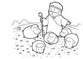 Bible Coloring Pages Jesus Shepherd Coloringstar Intended For