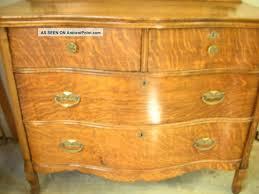 Tiger Oak Serpentine Dresser by 1901 Arts U0026 Crafts Tiger Oak Serpentine Dresser W Mirror
