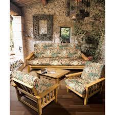 landhaus wohnzimmer möbelset marseille naturholz