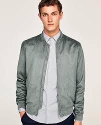 faux suede bomber jacket bomber jackets man zara united states