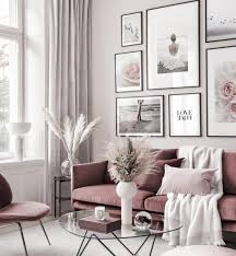 beruhigende bilderwand harmony poster rosa blumen schwarze