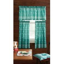 Owl Kitchen Curtains Walmart by Pioneer Woman Kitchen Curtain And Valance Set Assorted Patterns