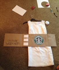 DIY Halloween Costume Starbucks Cup