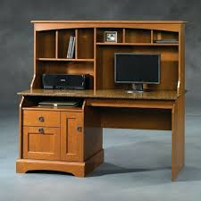 sauder harbor view computer desk with hutch antiqued white 158034
