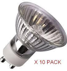 10 x gu10 50 watt halogen light bulbs co uk kitchen home
