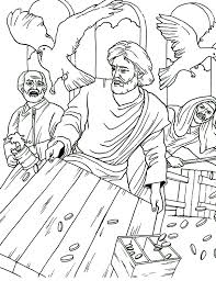Jesus Clears The Temple Coloring Page Free Pages On Art
