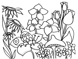 Coloring Page Spring Season Nature 23
