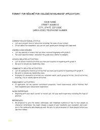 Unique Scholarship Resume Template