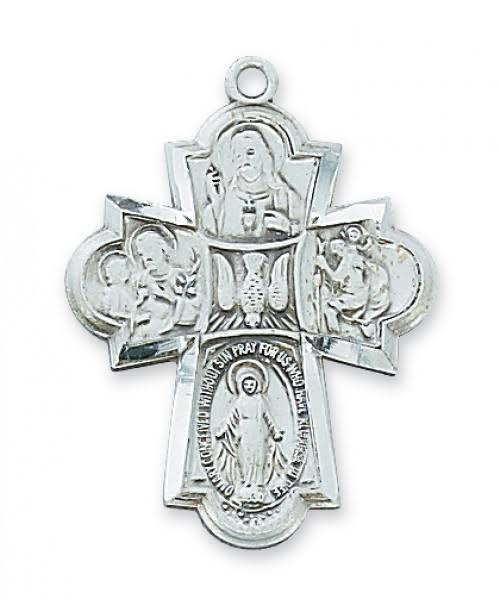 Sterling Silver 4 Way Medal L2410