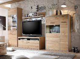 wohnwand ast eiche massiv edelstahl design wohnzimmer möbel