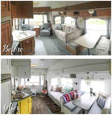 Travel Trailer Remodel Before And After Fifth Wheel Renovation U Sqftrhsqftcom