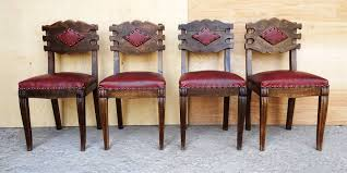 Set Of Solid Sturdy Spanish Colonial Style Vintage Cherry ...
